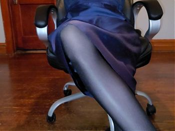 Lined silk evening skirt and pantyhose