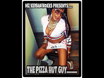 BUSTY BLACK CD TRYING TO SEDUCE THE PIZZA GUY